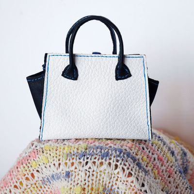 Bag white-black-blue 7