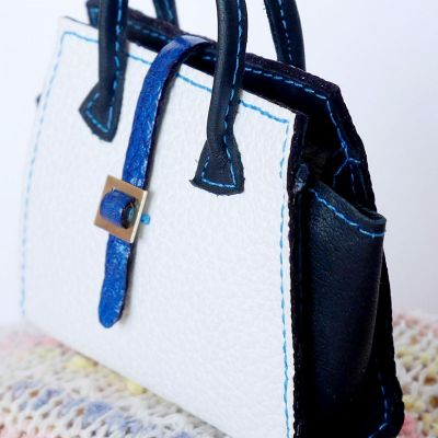 Bag white-black-blue 8