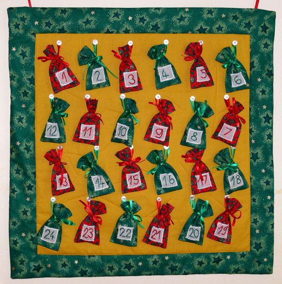 Advent bag calendar